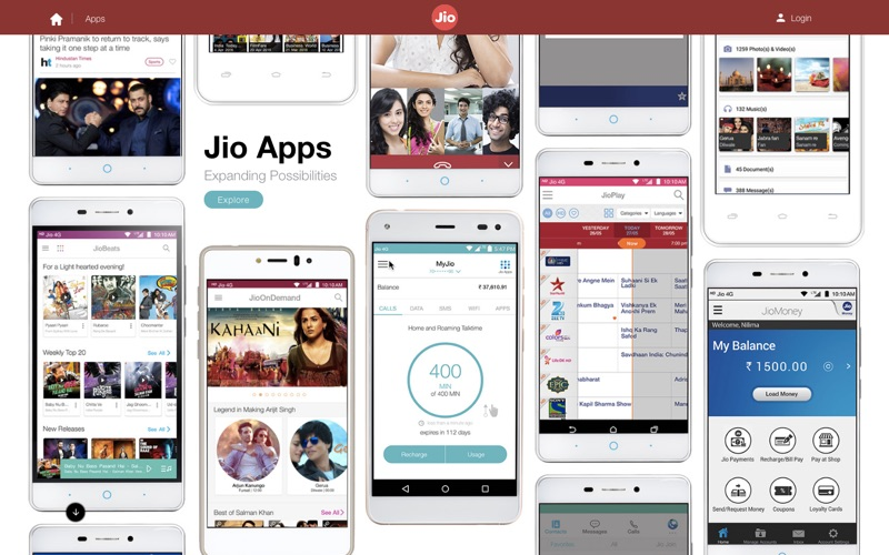 Reliance Jio Apps