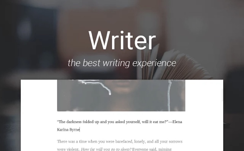 WriterApp-ChromeApp