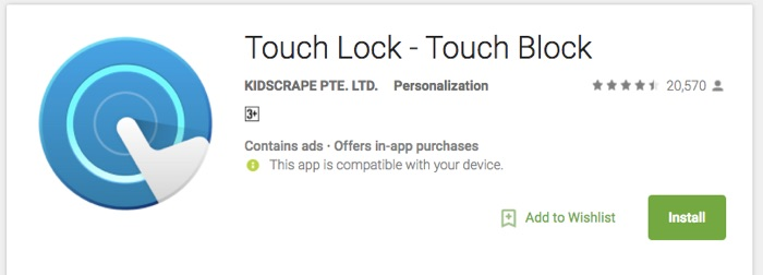 Touch Lock for Kids