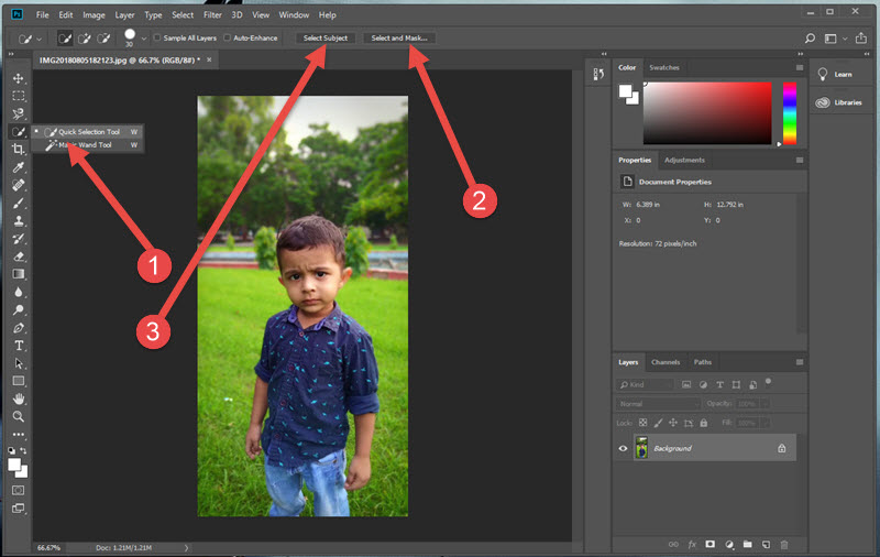 Remove Bg from Images in PS CC