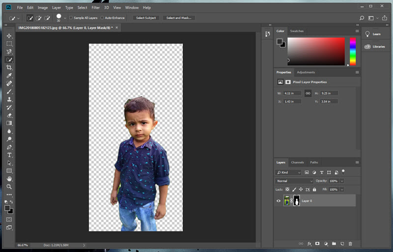 Remove Bg from Images in Photoshop CC 2018