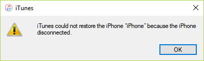 iphone backup could not be restored