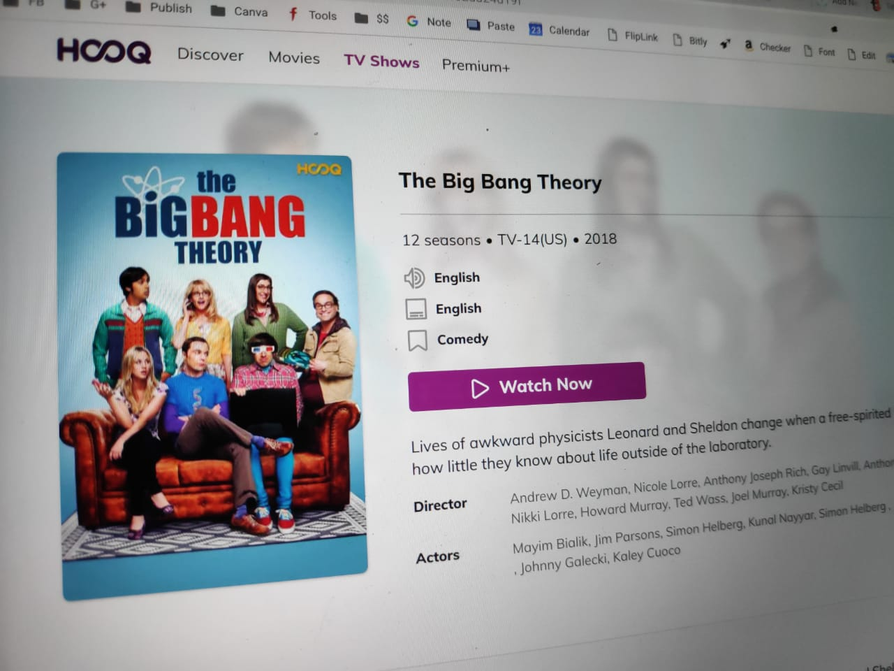 Big Bang Theory HOOQ