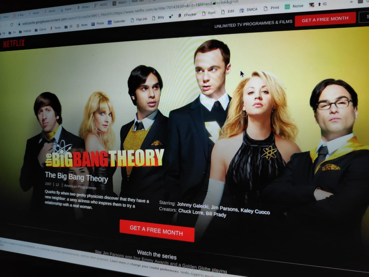 Big Bang Theory on Netflix