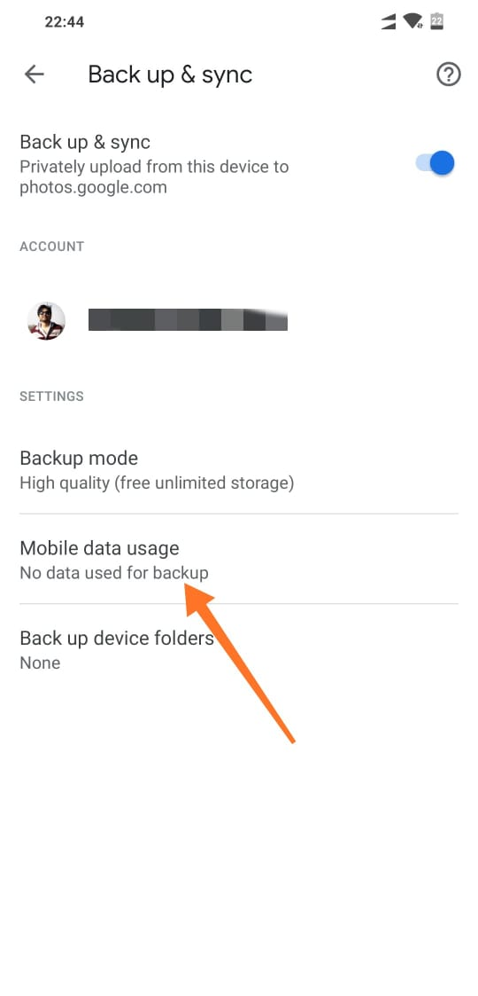 Daily Mobile Data Usage Limit in Google Photos