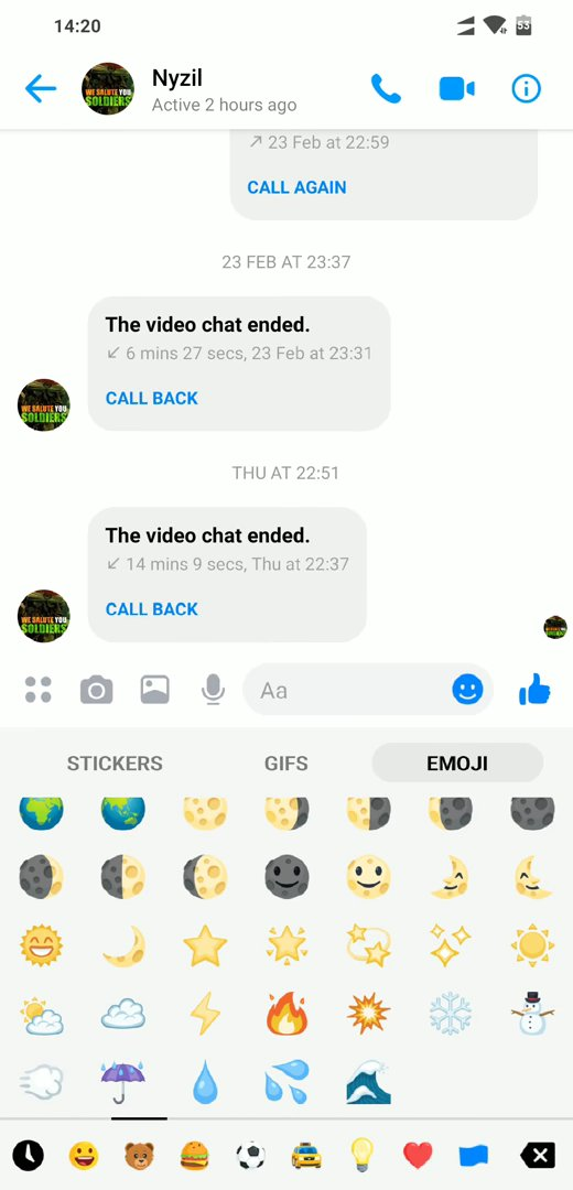 Night Mode in Facebook Messenger