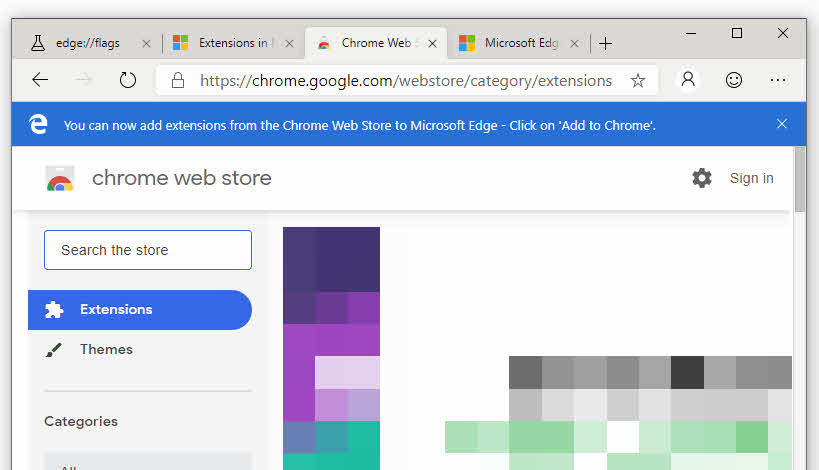 Add Extensions to Edge Browser from Chrome Web Store