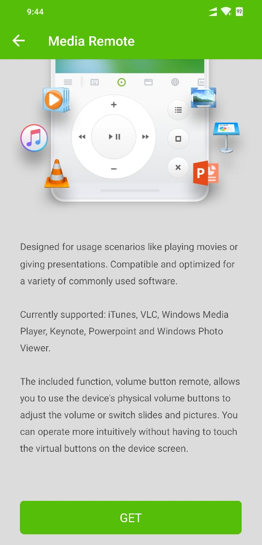Remote Mouse Media Controls