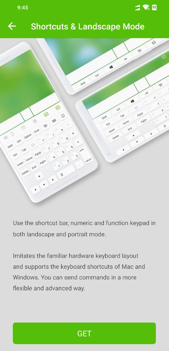 Remote Mouse Shortcut Bar