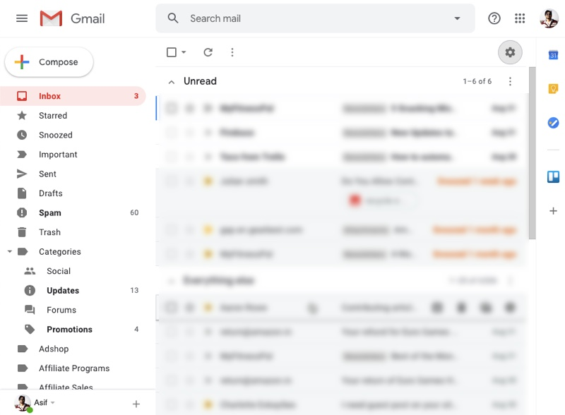 Gmail Light Mode