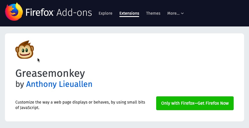 Grease Monkey for Mozilla Firefox