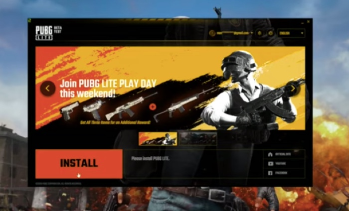Install PUBG Lite for PC