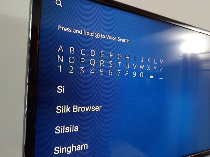 Silk Browser on Fire TV Stick 01