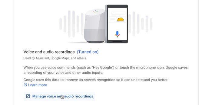Voice and Audio Recordings Google