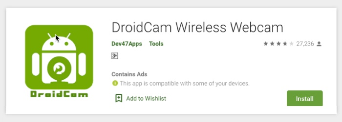 DroidCam Wireless App
