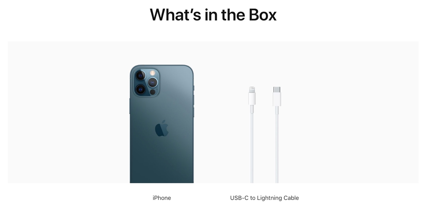 Every iPhone Box will have only an iPhone and a Cablea